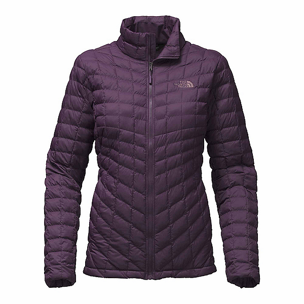 The North Face ThermoBall Full Zip Womens Jacket (Previous Season), Dark Eggplant Purple Matte, 600