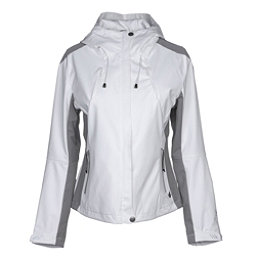 NILS Shar Womens Shell Ski Jacket, White-Steel Grey, 256