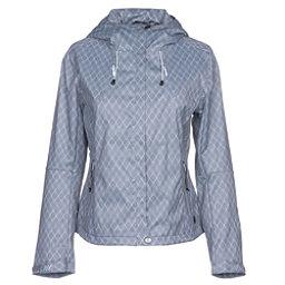 NILS Shar Print Womens Shell Ski Jacket, Steel Grey-White Geo Print, 256