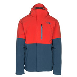 The North Face Apex Flex GTX Mens Insulated Ski Jacket, Centennial Red-Shady Blue, 256