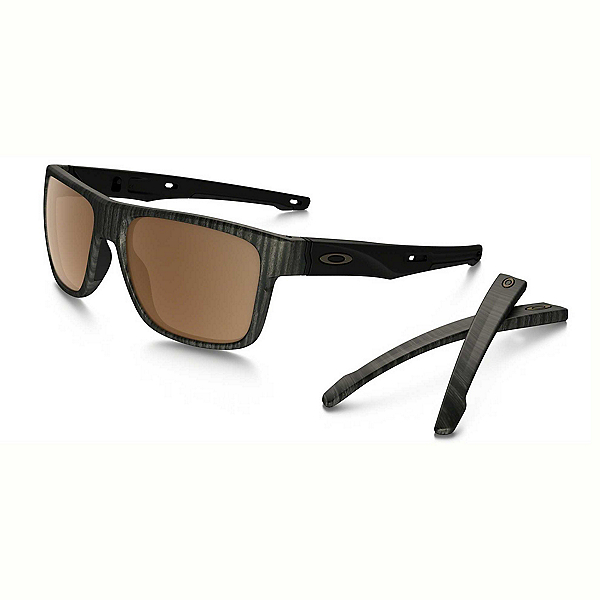 Oakley Crossrange PRIZM Polarized Sunglasses, Woodgrain-Prizm Tungsten Polarized, 600