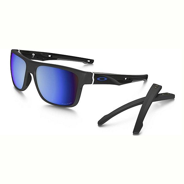 Oakley Crossrange PRIZM Polarized Sunglasses, Matte Dark Gray-Prizm Deep Water Polarized, 600