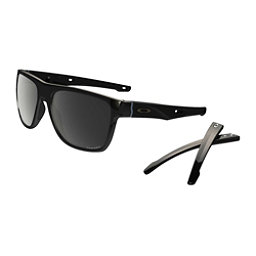 Oakley Crossrange XL PRIZM Polarized Sunglasses, Polished Black-Prizm Black Polarized, 256