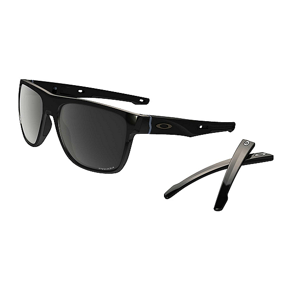 Oakley Crossrange XL PRIZM Polarized Sunglasses, Polished Black-Prizm Black Polarized, 600