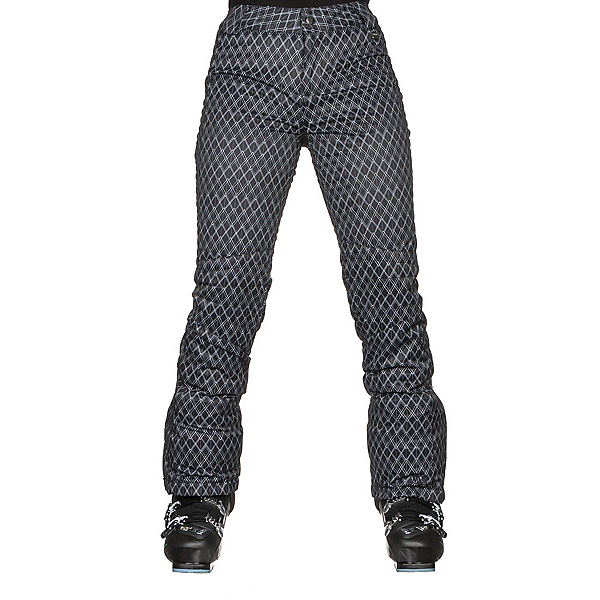 NILS Dominique Print Womens Ski Pants, Black-White Geo Print, 600