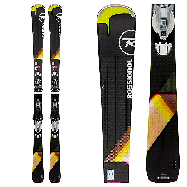 Rossignol Famous 10 Womens Skis with NX 12 Konect Bindings, , 600