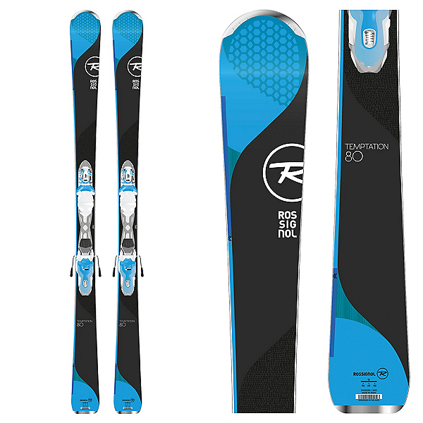 Rossignol Temptation 80 Womens Skis with Xpress 11 Bindings 2018, , 600
