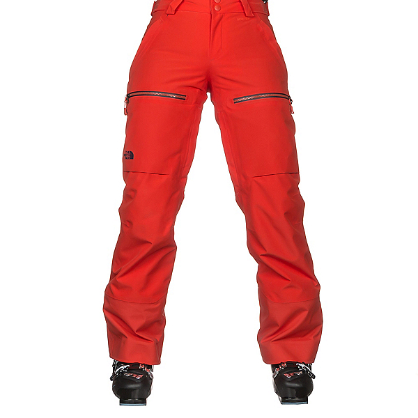 The North Face Powder Guide Womens Ski Pants, Fire Brick Red, 600