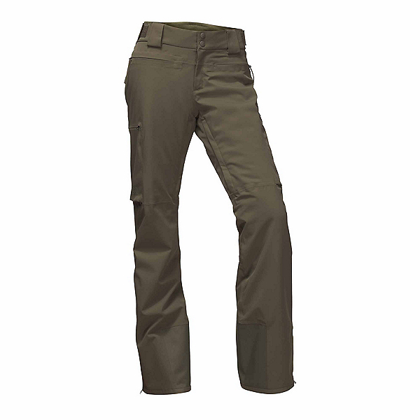The North Face Powdance Womens Ski Pants, New Taupe Green, 600