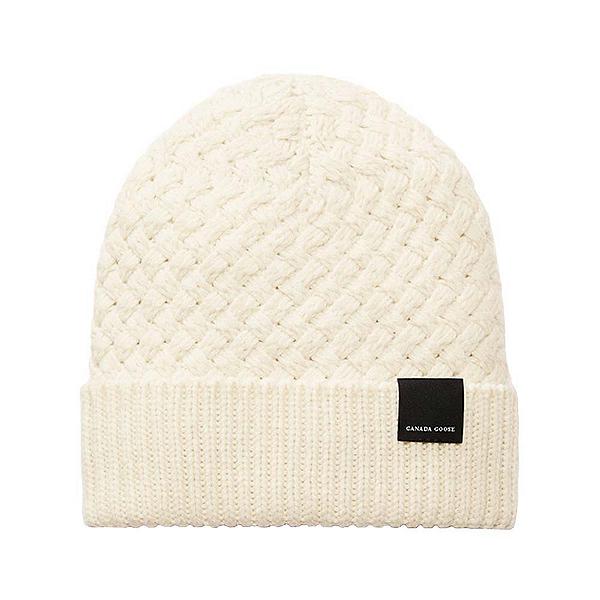 Canada Goose Basket Stitch Toque Womens Hat, Ivory, 600