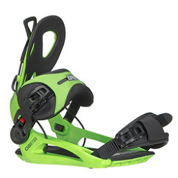 Gnu Cheeter Snowboard Bindings 2018, Green, 256