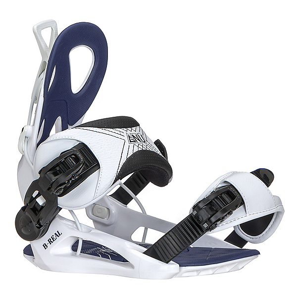 Gnu Be-Real Womens Snowboard Bindings 2018, White, 600