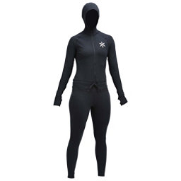 Air Blaster Classic Ninja Womens Long Underwear Top, Black, 256
