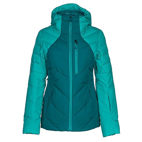 The North Face Corefire Down Womens Insulated Ski Jacket, Harbor Blue-Vistula Blue, 600