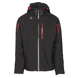 Descente Terro Mens Insulated Ski Jacket, Black-Electric Red, 256