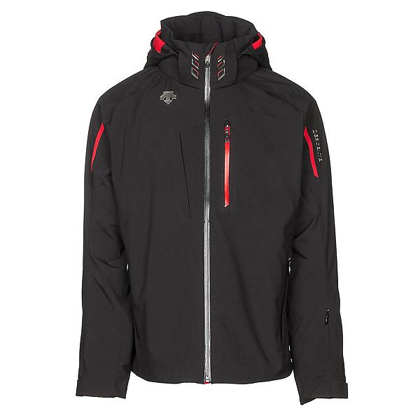 Descente Terro Mens Insulated Ski Jacket, Black-Electric Red, 600