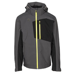 Descente Rage 3L Mens Shell Ski Jacket, Anthracite Gray-Black, 256