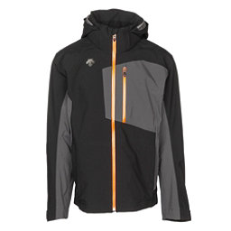 Descente Rage 3L Mens Shell Ski Jacket, Black-Anthracite Gray, 256