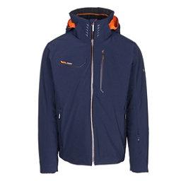 Descente Reign Mens Insulated Ski Jacket, Dark Night-Blaze Orange, 256
