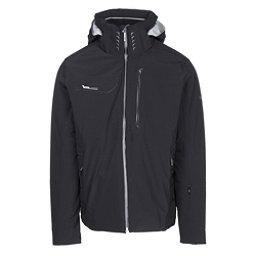 Descente Reign Mens Insulated Ski Jacket, Black-Moonstone Gray, 256