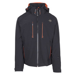 Descente Regal Mens Insulated Ski Jacket, Black-Blaze Orange, 256