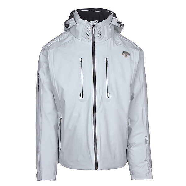 Descente Regal Mens Insulated Ski Jacket, Moonstone Gray-Black, 600
