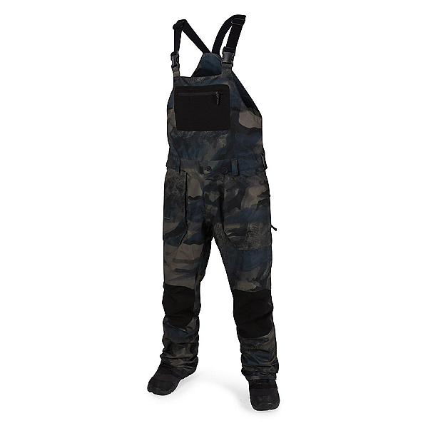 Volcom Roan Overall Mens Snowboard Pants, Camouflage, 600