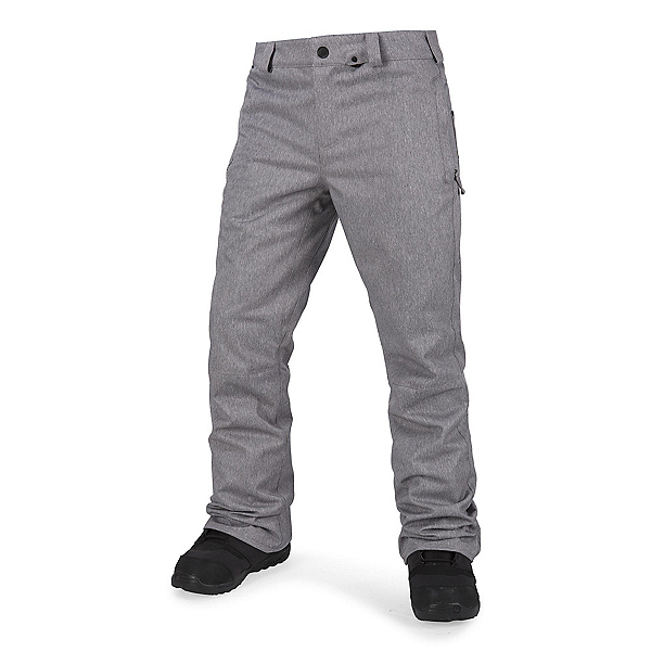 Volcom Klocker Tight Mens Snowboard Pants, Heather Grey, 600