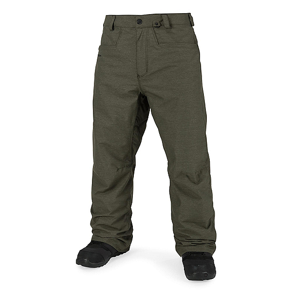 Volcom Carbon Mens Snowboard Pants, Military, 600