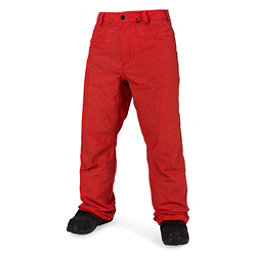 Volcom Carbon Mens Snowboard Pants, Fire Red, 256