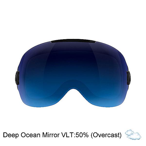 Abom One Goggle Replacement Lens, Deep Ocean Blue Mirror, 600