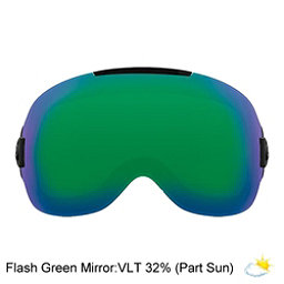Abom One Goggle Replacement Lens 2018, Flash Green Mirror, 256