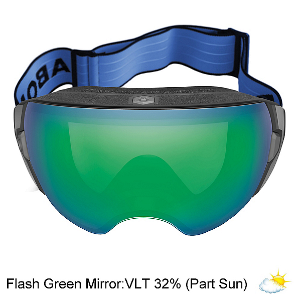 Abom Heet Goggles 2020, Flash Green Mirror, 600
