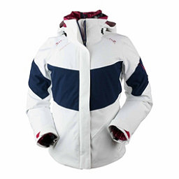 Obermeyer Double Dare 4-in-1 Down Womens Insulated Ski Jacket, White, 256