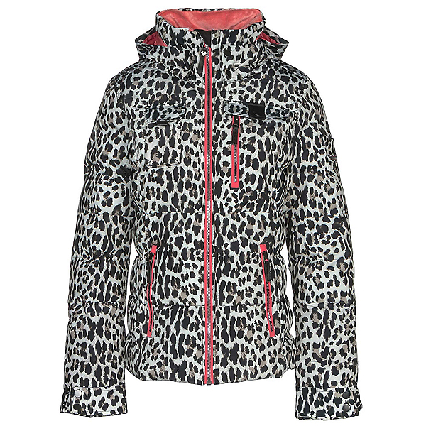 Obermeyer Leighton Womens Insulated Ski Jacket, Leopard, 600