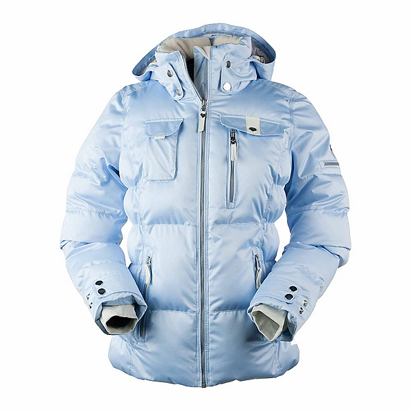 Obermeyer Leighton - Petite Womens Insulated Ski Jacket, Icescape Blue, 600