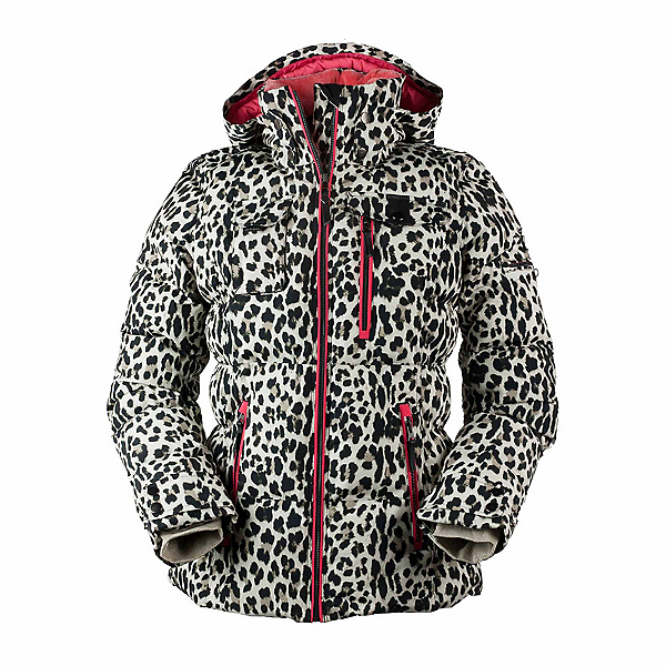 Obermeyer Leighton - Petite Womens Insulated Ski Jacket, Leopard, 600