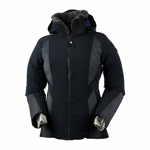 Obermeyer Sola Down Womens Insulated Ski Jacket, Black, 600