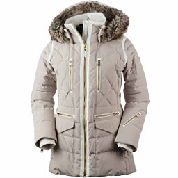 Obermeyer Blythe Down w/Faux Fur Womens Insulated Ski Jacket, Cashmere, 256