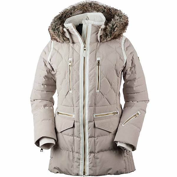 Obermeyer Blythe Down w/Faux Fur Womens Insulated Ski Jacket 2019, Cashmere, 600