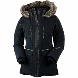 Obermeyer Blythe Down w/Faux Fur Womens Insulated Ski Jacket, Black, 256