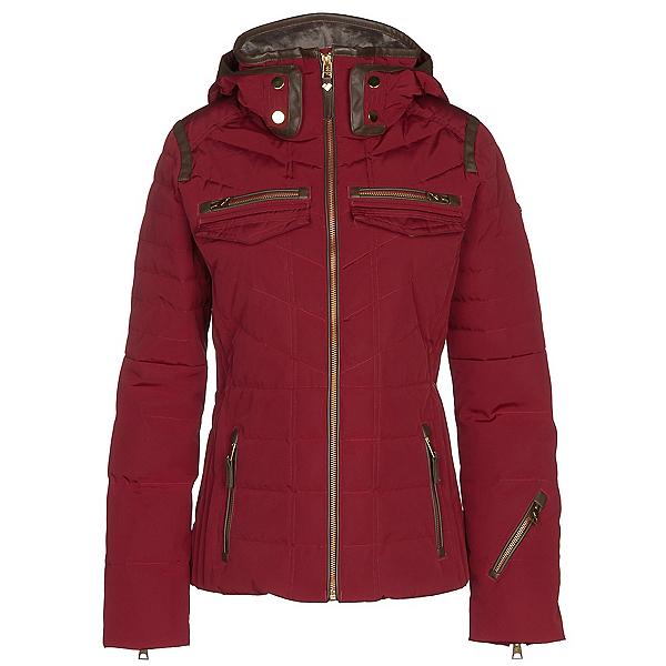 Obermeyer Devon Down Womens Insulated Ski Jacket, Red Tannin, 600