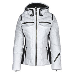 Obermeyer Devon Down Womens Insulated Ski Jacket, White, 256