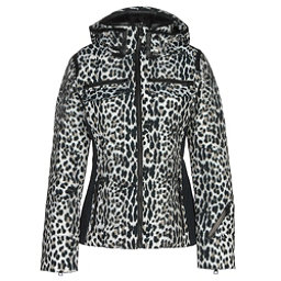 Obermeyer Devon Down Womens Insulated Ski Jacket, Leopard, 256