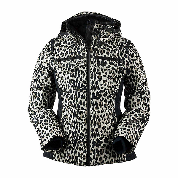 Obermeyer Devon Down - Petite Womens Insulated Ski Jacket, Leopard, 600