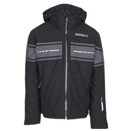 Descente Canada Ski Cross Mens Insulated Ski Jacket, Black-Anthracite Gray-Moonston, 256