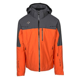 Descente Silas Mens Insulated Ski Jacket, Blaze Orange-Anthracite Gray, 256