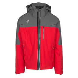 Descente Silas Mens Insulated Ski Jacket, Electric Red-Anthracite Gray, 256