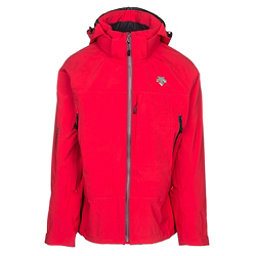 Descente Moe Mens Shell Ski Jacket, Electric Red-Black, 256