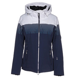 Descente Reagon Womens Insulated Ski Jacket, Super White-Dark Night, 256